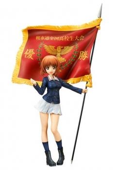 Girls und Panzer der Film PVC Statue Miho Nishizumi Winning Flag Ver. 22 cm