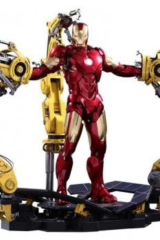 Iron Man 2 Diecast Movie Masterpiece Actionfigur 1/6 Iron Man Mark IV & Suit-up Gantry 32 cm