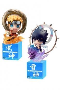 Naruto Shippuden Petit Chara Land Sammelfiguren 2er-Pack Fujin & Raijin 5 cm