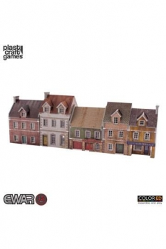 EWAR WWII ColorED Tabletop-Bausatz 15 mm Building Set