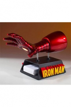 Marvel Visitenkarten-Halter / Schreibtisch-Accessoire Iron Man Handschuh 12 cm