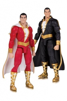 DC Essentials Actionfiguren Doppelpack Shazam! & Black Adam 18 cm
