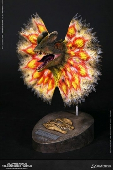 Paleontology World Museum Collection Series Büste Dilophosaurus Yellow Ver. with Neck-Frill 28 cm