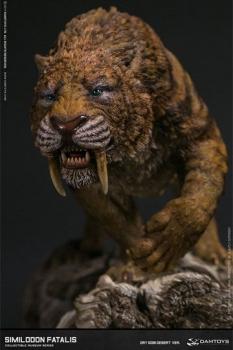 Paleontology World Museum Collection Series Statue Similodon Fatalis Dry Gobi Desert Ver. 28 cm
