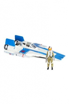 Star Wars Episode VIII Force Link 2.0 Class B Fahrzeug mit Figur 2018 Resistance A-Wing Fighter
