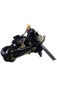 Final Fantasy VII Advent Children Play Arts Kai Actionfigur Cloud Strife & Fenrir 28 cm