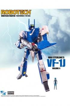 Robotech Veritech Micronian Pilot Collection Actionfigur 1/100 Max Sterling VF-1J 15 cm