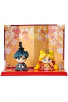Sailor Moon Petit Chara Minifiguren 2er-Set Hinamatsuri Usagi & Mamoru 6 cm