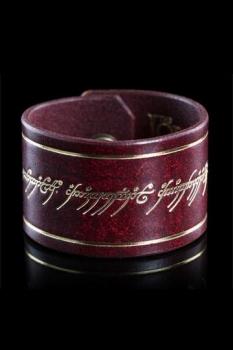 Herr der Ringe Leder-Armband Der Eine Ring Inschrift