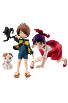 GeGeGe no Kitaro G.E.M. Serie PVC Statuen Neko Musume & Kitaro Special Edition 13 - 15 cm