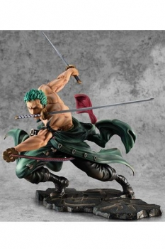 One Piece Portrait Of Pirates SA-MAXIMUM PVC Statue Roronoa Zoro San Zen Se Kai !!! Ver. 21 cm