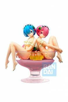 Re: Zero Starting Life in Another World PVC Statue Rem & Ram Pudding á la mode 12 cm