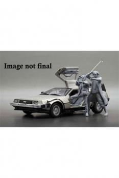 Zurück in die Zukunft II Diecast Modell 1/18 1983 DeLorean mit Dr. Emmett Brown Figur