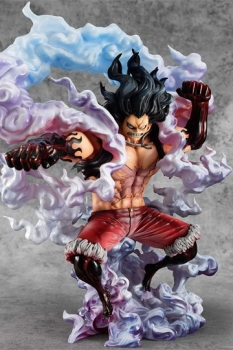 One Piece Excellent Model P.O.P PVC Statue 1/8 SA-Maximum Monkey D. Ruffy Gear 4 Snake Man 26 cm