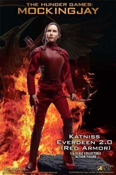 Die Tribute von Panem Mockingjay Teil 1 MFM Actionfigur 1/6 Katniss Everdeen Red Armor Ver. 30 cm