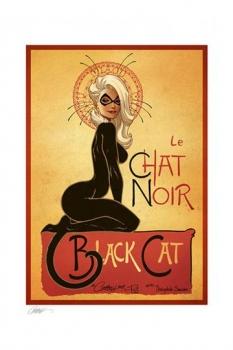 Marvel Kunstdruck Le Chat Noir: The Black Cat by J. Scott Campbell 46 x 61 cm - ungerahmt
