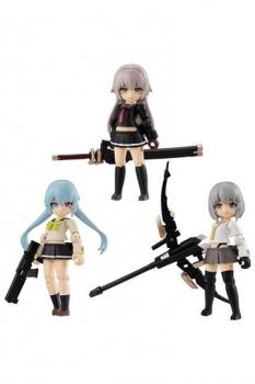 Heavily Armed High School Girls Desktop Army Actionfiguren 8 cm Sortiment Team 1