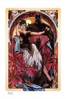 DC Comics Kunstdruck Batman & Catwoman 46 x 61 cm - ungerahmt