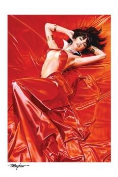 Vampirella Kunstdruck Vampirella: Roses for the Dead 46 x 61 cm - ungerahmt - Weltweit limitiert auf 400 Stück!