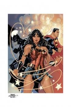 DC Comics Kunstdruck Justice League 46 x 61 cm - ungerahmt Weltweit limitiert auf 300 Stück!