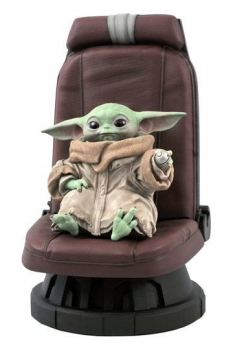 Star Wars The Mandalorian Premier Collection Statue 1/2 The Child in Chair 30 cm auf 3000 Stück limitiert.