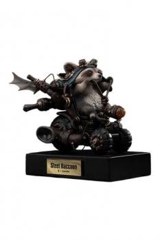 Masato Ohata x Manas SUM Statue Steel Raccoon 18 cm