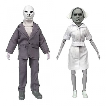 Twilight Zone Retro Actionfiguren Set Serie 6 Alien & Nurse 20 c