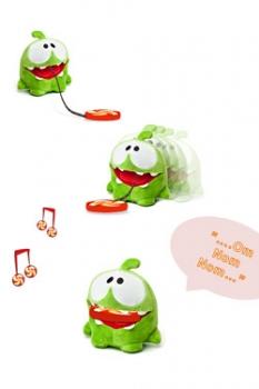 Cut the Rope Plüschfigur mit Sound OmNom Candy Monster 15 cm