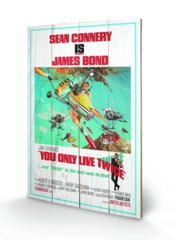 James Bond Holzdruck You Only Live Twice One-sheet 40 x 60 cm