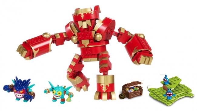 Robot Arkeyan King Bauset Mega Skylanders Bloks sQthrd