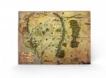 Der Hobbit Eine unerwartete Reise Holzdruck Journey Map 40 x 60 cm