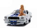 3 Engel für Charlie Diecast Modell 1/18 1976 Ford Mustang Cobra II mit Figur