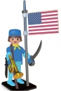 Playmobil Nostalgie Collection Statue Amerikanischer Reiter 25 cm
