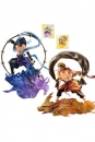 Naruto Shippuden G.E.M. Remix Serie PVC Statuen Sasuke Uchiha Raijin & Naruto Uzumaki Fujin 18 cm
