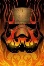Star Wars Metall-Poster Masked Troopers Flames 68 x 48 cm