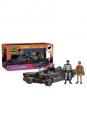 Batman 1966 Actionfiguren Set Batman, Robin & Batmobile 10 cm
