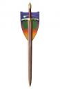 Das Lied von Eis und Feuer Replik 1/1 Eidwahrer Schwert Red Damascus 114 cm