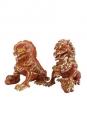 Myth & Legends Series XXRAY PLUS Figuren Doppelpack Foo Dogs (Terracotta) 20 cm