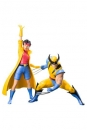 Marvel Universe ARTFX+ Statuen 1/10 Doppelpack Wolverine & Jubilee (X-Men 92) 16 cm