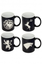 Game of Thrones Tassen 4er-Pack Logos Collectors Edition