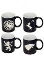 Game of Thrones Tassen 4er-Pack Logos Collectors Edition