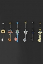 Kingdom Hearts Diecast Anhänger 6er-Pack Key Blade Collection
