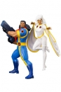 Marvel Universe ARTFX+ Statuen 1/10 Doppelpack Bishop & Storm (X-Men 92) 20 cm