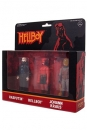 Hellboy ReAction Actionfiguren 3er-Pack Pack B Hellboy w/o horns, Rasputin, Johann Kraus 10 cm