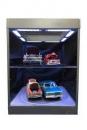 Display Case mit Beleuchtung für Modellautos (silber)