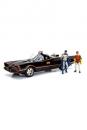 Batman Diecast Modell 1/18 1966 Batmobil mit Leuchtfunktionen und Figuren