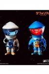 2001: Odyssee im Weltraum Artist Defo-Real Series Vinyl Figuren DF Astronaut Silver & Blue Ver.