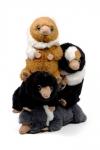 Phantastische Tierwesen: Grindelwalds Verbrechen Plüschfiguren 4er-Pack Baby Nifflers 20 cm