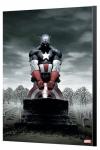 Marvel Avengers Collection Holzdruck Captain America 4 - Steve Epting 40 x 60 cm