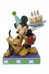 Disney Statue Pluto & Mickey Birthday 16 cm